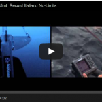 Italian apnea record in the No limits catagory by Andrea Zuccari