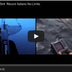 Italian apnea record in the No limits catagory by Andrea Zuccari