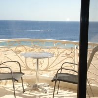 2 bedrooms flat for rent in Montazah with amazing sea @ swimming pool view,