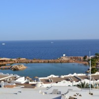amazing sea view one bed room flat in  domina coral bay first line 5* hotel