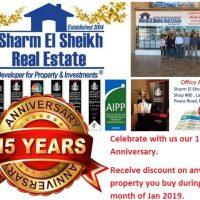 Sharm El Sheikh Real Estate 15 Years Anniversary