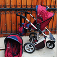 Stroller with car seat (forward and rear facing)