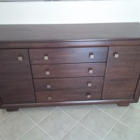 Sideboard - Solid Wood in walnut colour