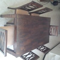 Dining Table for Sale (Solid Wood in walnut colour)
