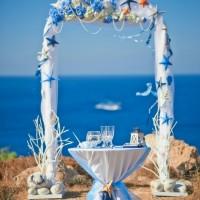 WEDDING ARCH in a Marine style
