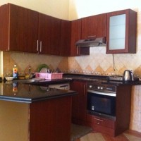 Fitted kitchen for sale includes wood and marble