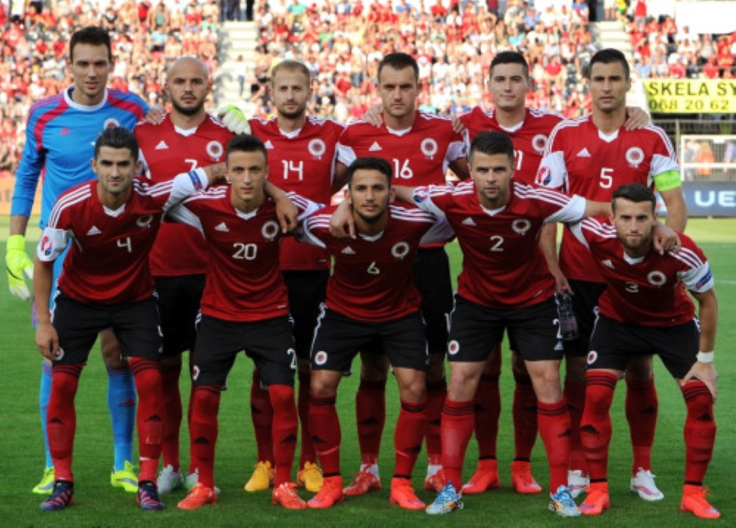 team photo for Albania