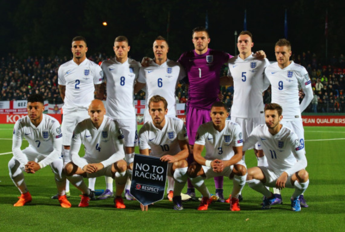 team photo for England