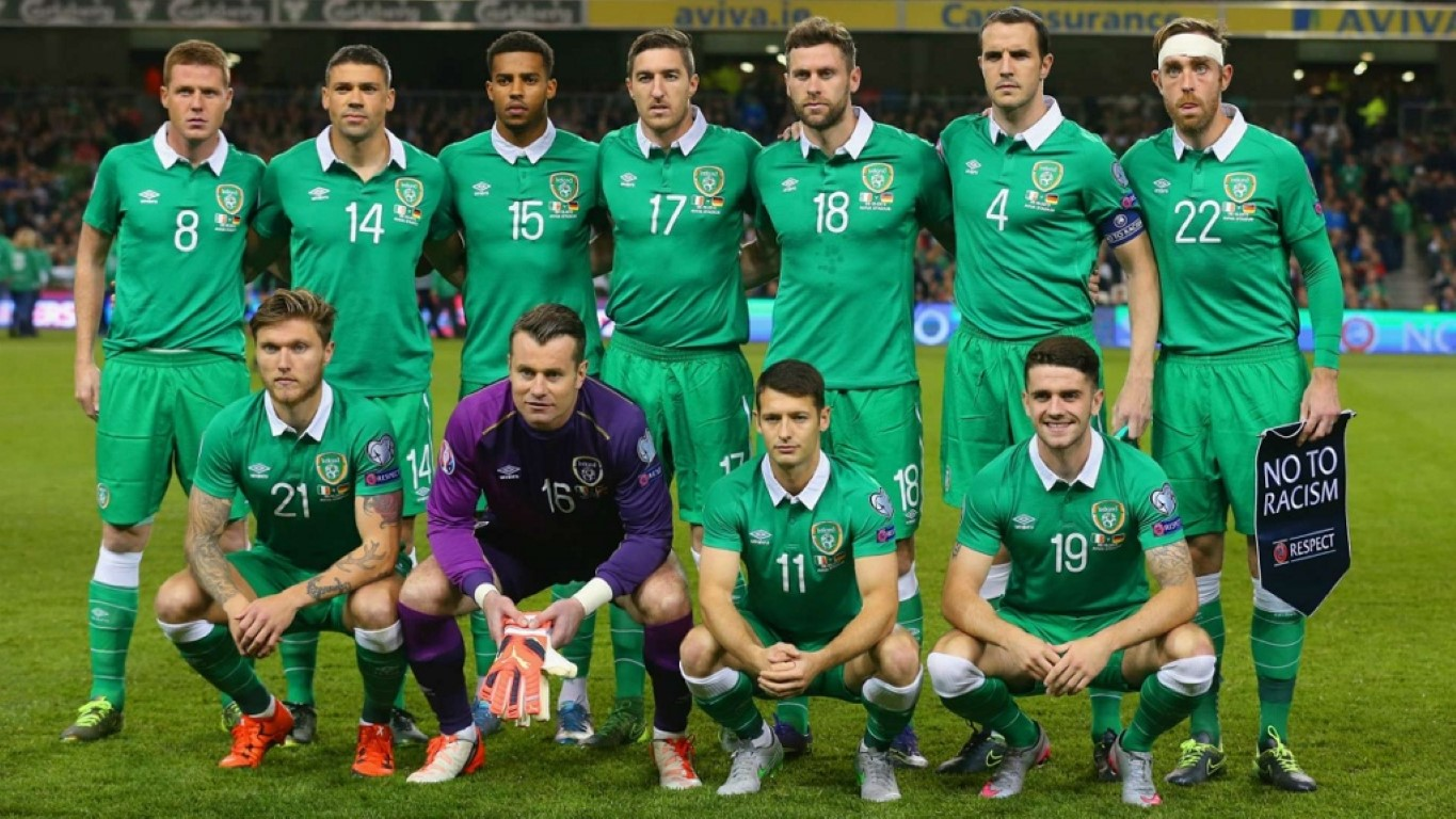 team photo for Ireland
