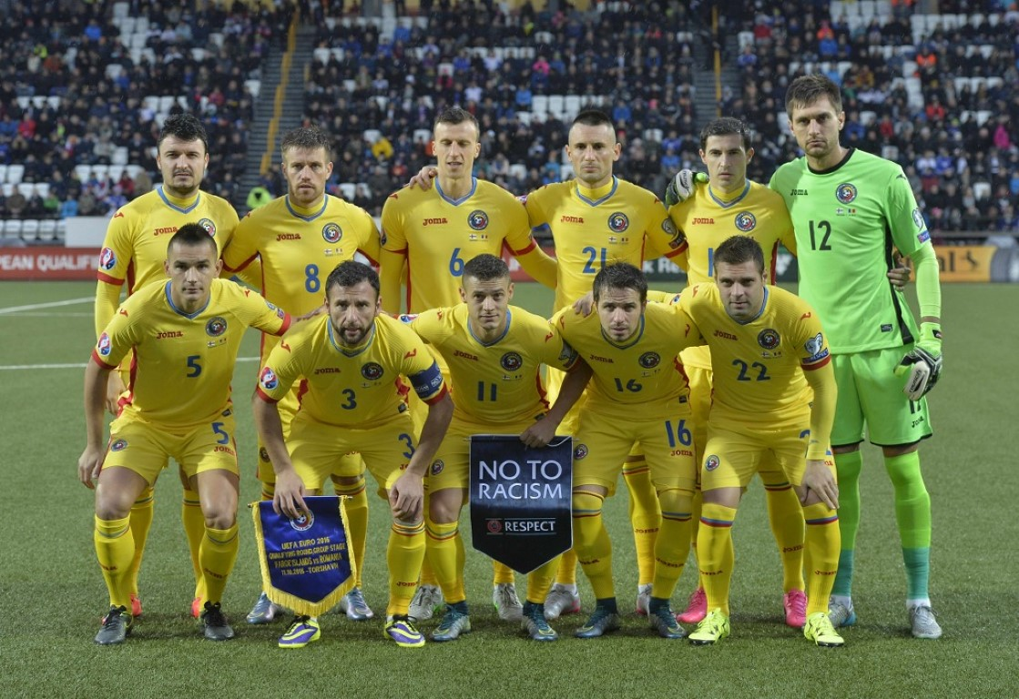 team photo for Romania