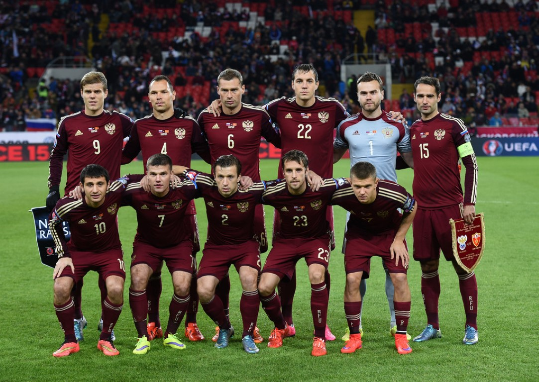team photo for Russia
