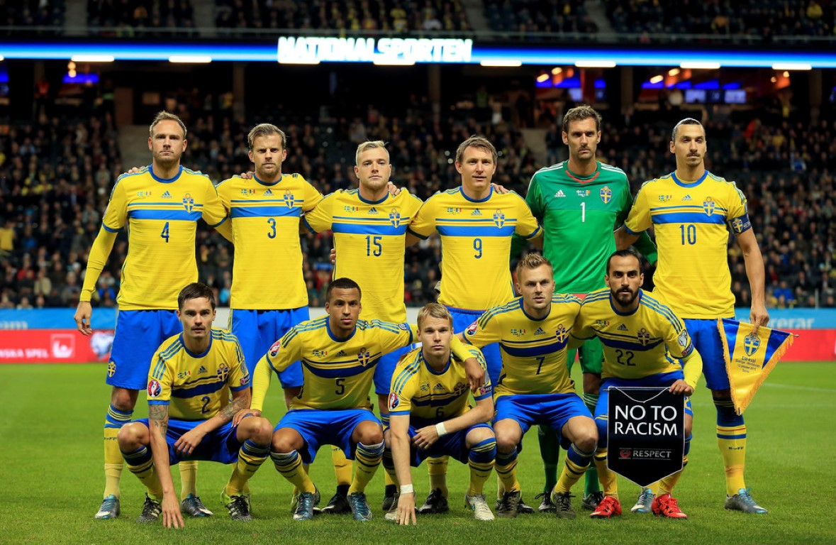 team photo for Sweden